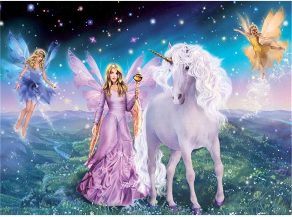 WACYDSD Pintar por Números Unicornio Magico Pintura Al Óleo ...