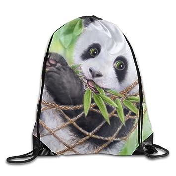Bolsas de cordón Unisex Janodo, Bonitas para Pintar Panda de bebé, Mochila portátil para Viajes, Deportes, Gimnasio, Yoga, Correr, Mochila de Deporte: ...