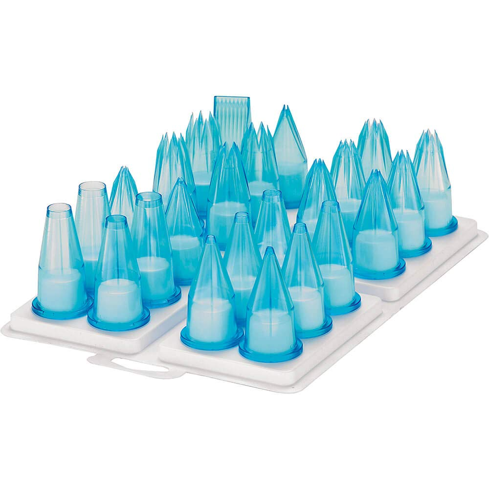 12 Piece Assorted Polycarbonate Pastry Tip Set