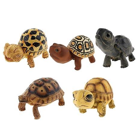 non-brand Homyl Figura de Tortugas Artificial Suministros de Pecera ...