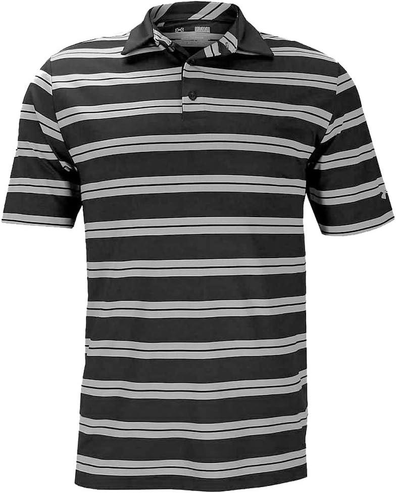 Under Armour Polo de Rayas de Rendimiento Golf Camisa para Hombre ...