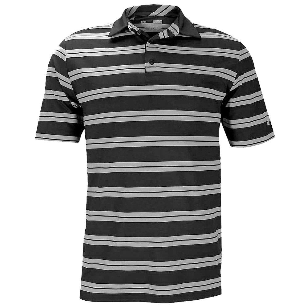 3c62bbb6e2 Amazon.com: Under Armour Mens Performance Stripe Polo Golf Shirt : Clothing