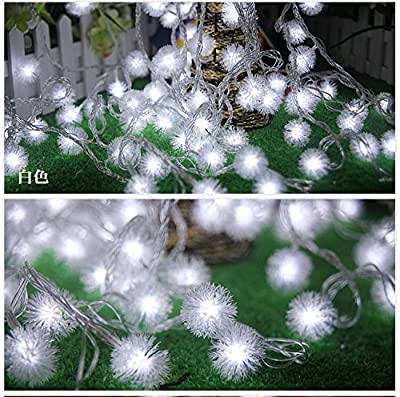 Dandelion Decorative Tandem LED Lamp String – 34 Feet 100 LED Lamps Outlet type Warm Ambient Lights Decorative for Christmas Trees, Bedroom, Patio, Wedding Parties
