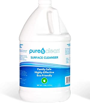 Pure & Clean Everyday Multi Surface Cleaner - Hypochlorous Acid Cleaning Solution - Powerful & Non-Toxic - for Use On Most Any Surface - Electrolyzed Water & HOCl Formula (1 Gallon)