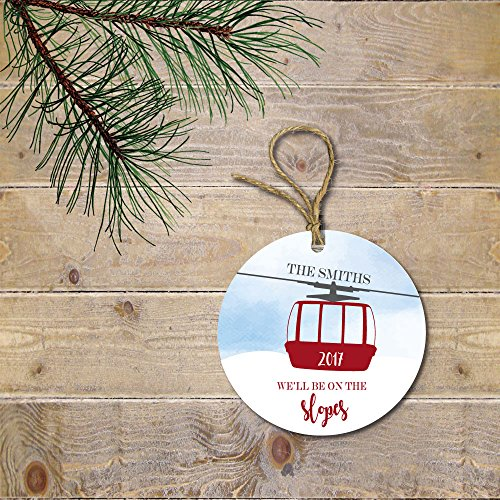 Ski Christmas Ornament Family Personalized