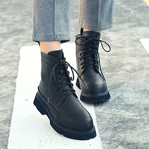 NSXZ Fall and Winter England lace boots Nvzhen boots 120W