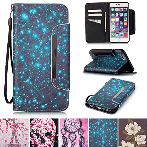 Lily Cell Phone Snap (iPhone 6/6S Case, [Card Slots] [Kickstand] Flip Folio Wallet Case Synthetic Leather Shell Scratch Resistant Protective Cover for Apple iPhone 6/6S 4.7