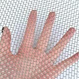 "TIMESETL 304 Stainless Steel Woven Wire 5 Mesh - 12""X24"" (30cmX60cm) - Metal Security Guard Garden Screen Cabinets Mesh"