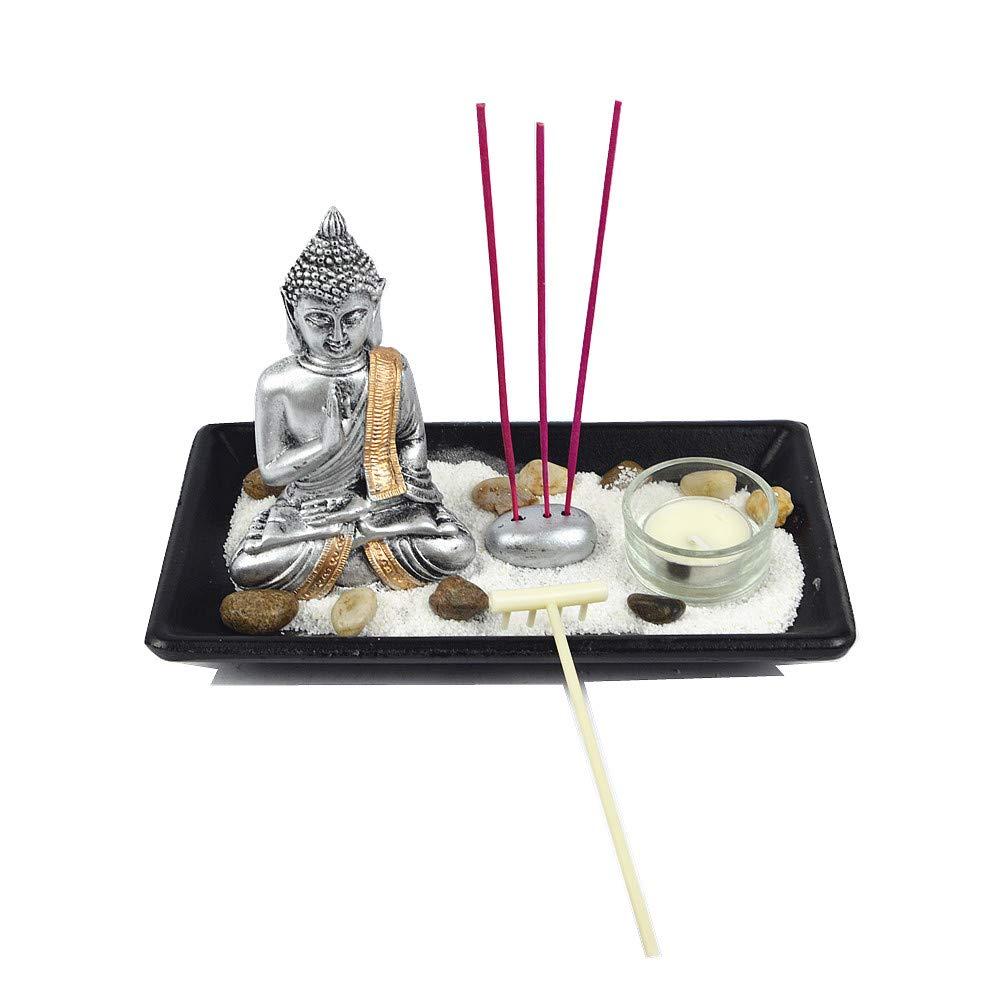Gerimport Giardino Zen con Buddha meditacionportavelas E Porta incensi assortimento lh214107