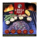 """G-RILLa Grill Mat (3 Mats) Premium Non-Stick BBQ Grill Mats, BBQ Accessories, PFOA Free, Works on Gas, Charcoal, Electric Grill, Smokers.Reusable-Reversible 13 X 15.75"""", Extended Warranty"""