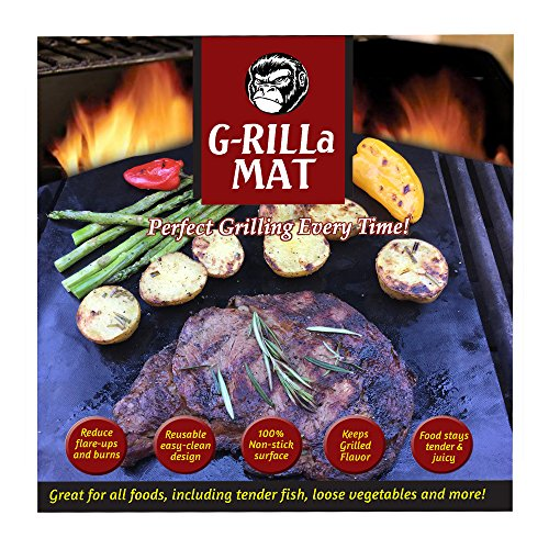 Grill Mat Non Stick Accessories Smokers Reusable Reversible