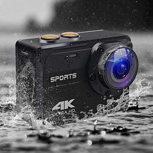 Action Camera, MOCRUX 16MP 4K WiFi Sport Video Camera, Ultra HD 2.0 Inch LCD Screen 150 Degree Wide Angle Waterproof Sport DV Camera with Mounting Accessories Kits(NO Need Protection Shell) Keluo