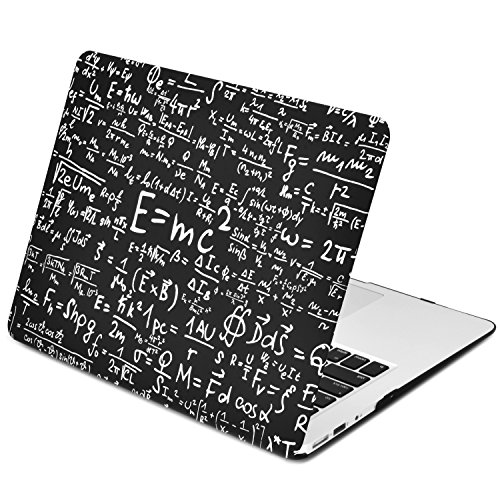TOP CASE - Physics Formulas Rubberized Hard Case Compatible with Apple MacBook Air 13 Model: A1369 and A1466 - Not Compatible 2018 Version A1932 MacBook Air 13 Retina Display - Black