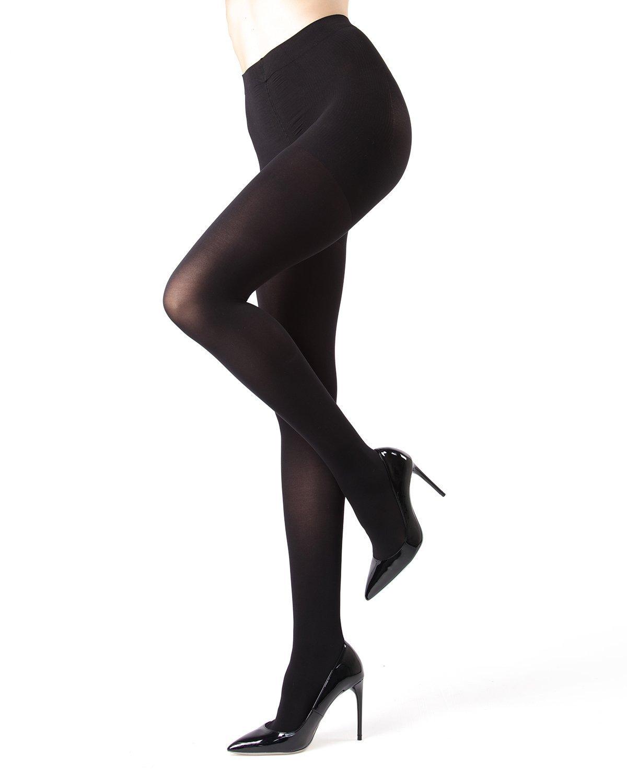 Memoi FirmFit Warm Control Top Tights | Women's Hosiery - Pantyhose - Nylons Black MO 892 Medium/Large