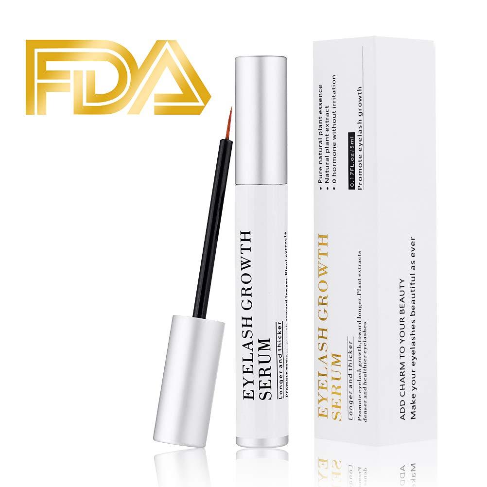 Kndio Eyelash Enhancer Serum, Eyelash Growth Serum Natural Super Beauty Eyelashes Liquid for Longer, Thicker, Fuller Eyelash 5ml by Kndio (Image #1)