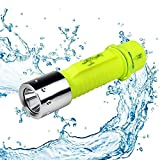 BESTSUN Diving Flashlight, Super Bright 1800 Lumens Scuba Flashlights Submarine Light Safety Waterproof Underwater Flashlight for Scuba Diving Outdoor Underwater Sports, Yellow (Without Battery)