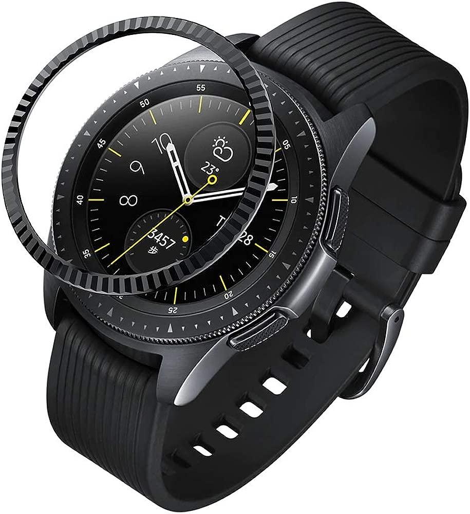 Smartwatch Cubierta de Acero Inoxidable Ohhome Anti Scratch Adhesivo Anillo Decorativo de Protección para Samsung Galaxy Watch 42mm Gear Sport
