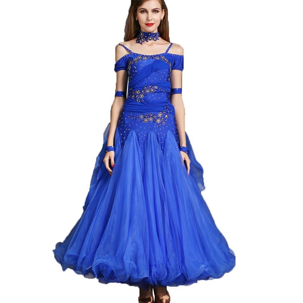MoLiYanZi Moderne Tanzkleider für Frauen Frauen Frauen Schultergurte Schlank Wettbewerb Tanz-Outfit Strass Große Schaukel B07BHNJFXK Bekleidung Wertvolle Boutique 3600e6