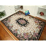 MeMoreCool Well-designed European Palace Elegant Jacquard Rectangle Tea Table Carpet,Living Room /Bedroom Area...