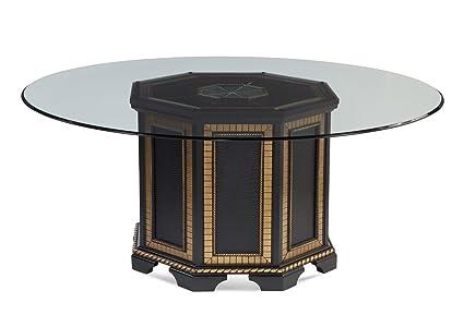 Amazoncom Bassett Mirror Villa Granada Inch Round Glass Top - 70 inch round pedestal dining table