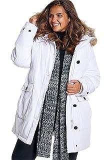6fa497f143369 Amazon.com  Woman Within Plus Size Short Microfiber Parka  Clothing
