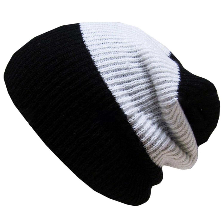 Surker Knit Three-color Mix Winter Warm Knit Hat Beanie Ski Hats