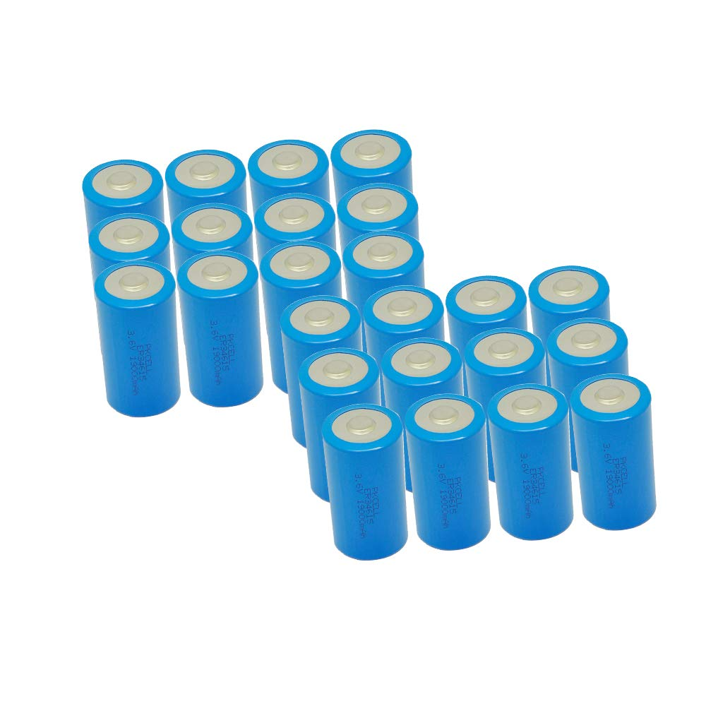D Cell ER34615 3.6v Lithium Battery With High Capacity 19000mAh (24pc)