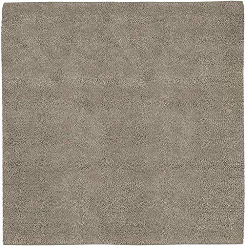 (Braselton Shag Plush Solid 8' Square Square Shag 100% Wool - Felted Ivory Area Rug )
