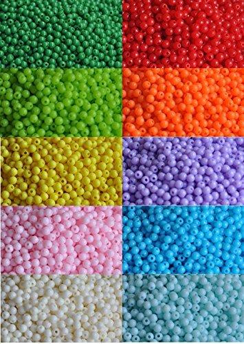 (2000 pieces of bulk plastic rainbow opaque mixed color pony beads handmade jewelry beads)
