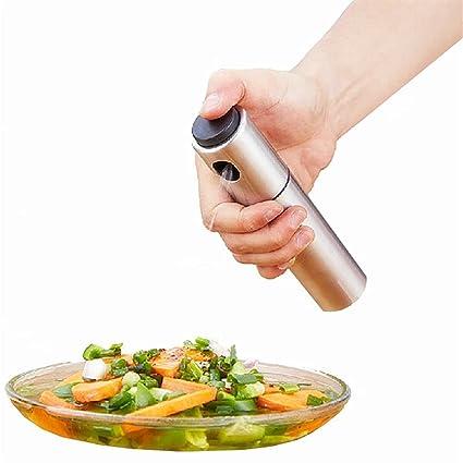 Pulverizador de aceite, rociador de aceite de oliva de acero inoxidable para cocinar, rociador