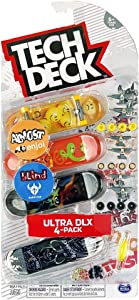 Tech-Deck Ultra DLX 4 Pack 96mm Fingerboards - 2019 Edition (Almost Blind)