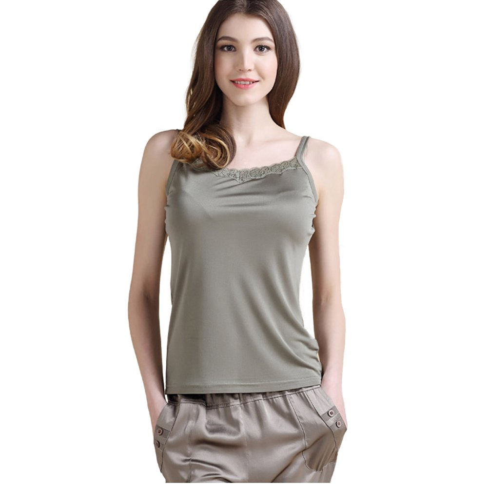 ForeverSilk Women's Silk Knitted Camisole Vest Tops HFT