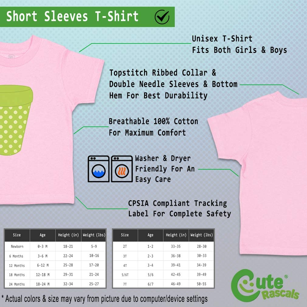 Custom Baby /& Toddler T-Shirt Garden Pot Green Cotton Boy Girl Clothes