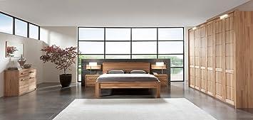 SAM® Schlafzimmer-Set, 1 x Holzbett + 2 x Nachtkommode + 1 x ...