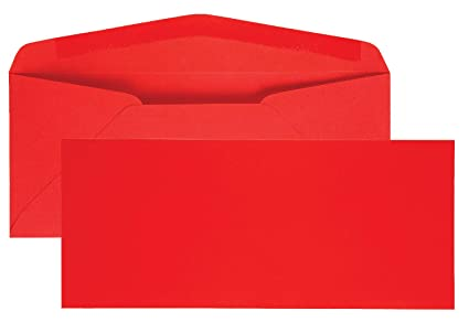 amazon com quality park colored envelope traditional 10 red