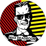 """Max HeadRoom - Robot (Face Shot) - 1 1/4"""" Button / Pin"""