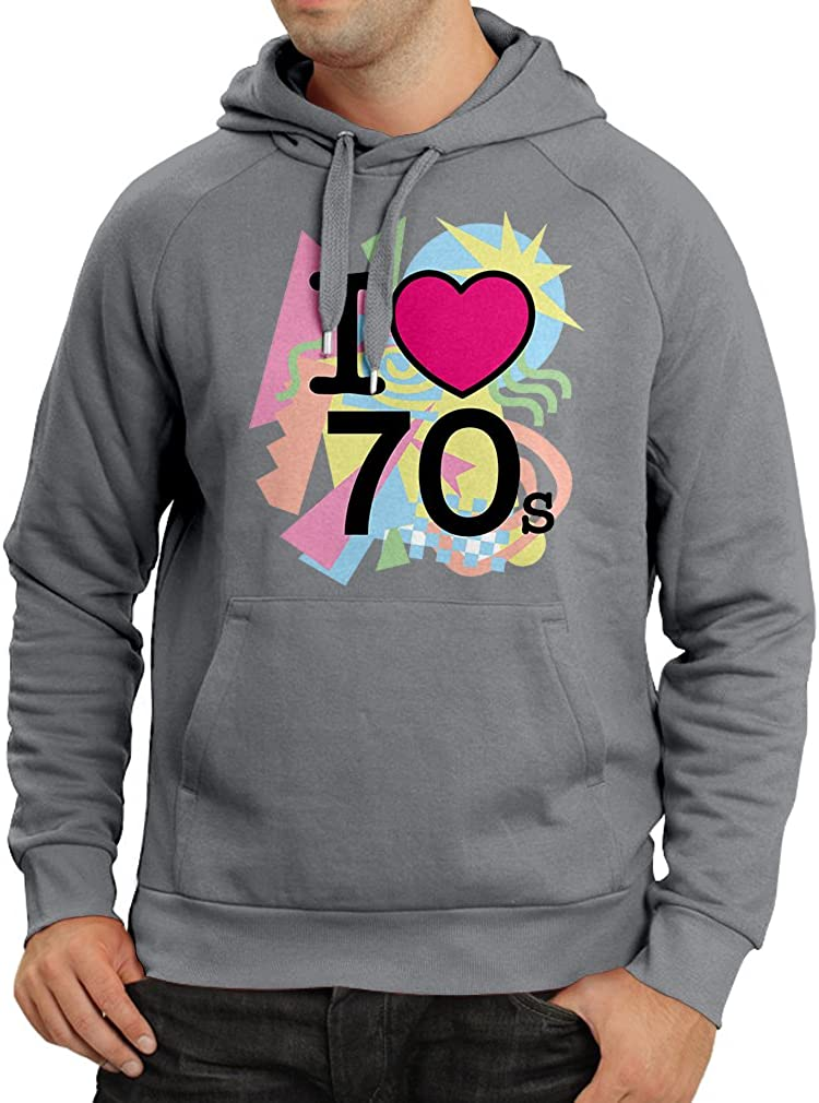 lepni.me Unisex Hoodie I Love 70s Never Forget Old School Band Concert Clothing