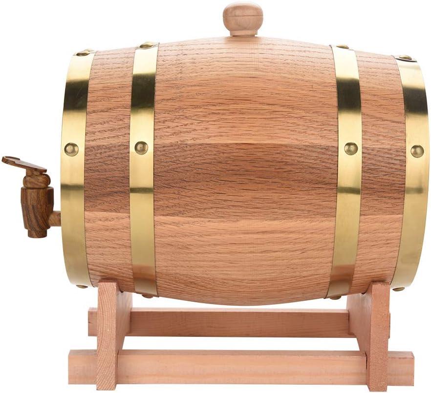 DGTRHTED Oak Barrel - Vintage Wood Oak Wood Wood Barrel para Cerveza Whiskey Rum Port, Oak Envejecimiento Barrel (tamaño : 3L)