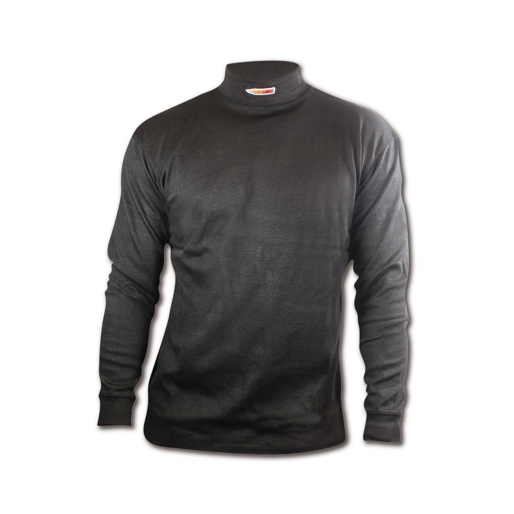 Magid CX54XXXL CarbonX Flame Resistant Long-Sleeved Crew Neck Undershirt, 3XL, Black by Magid Glove & Safety (Image #2)