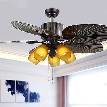 OOFAY American Deckenventilator Lichter Restaurant Mit Lampe Ventilator  Licht Europäischen Retro Wohnzimmer Hause Mit Lampe Ventilator