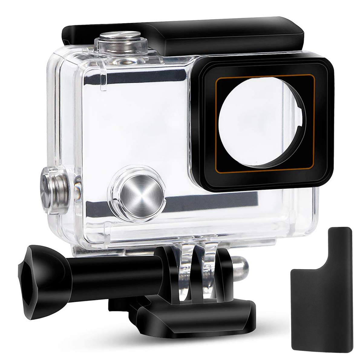 Yimobra Waterproof Housing Case for Gopro Hero 4 and Hero 3+ with Quick Release Mount and Thumbscrew Protective 147FT 45M Underwater Photography Dive Hero Transparent (Presented One More Clip) by Yimobra