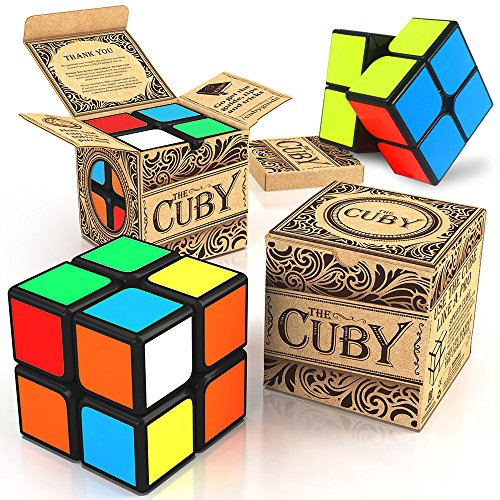 The Cuby 2x2 Cube - The Best Two-Layer Brain Teaser - Perfect Mind Teaser for Kids and Cube Puzzle for Adults - Hours of Fun In The Palm Of Your Hand