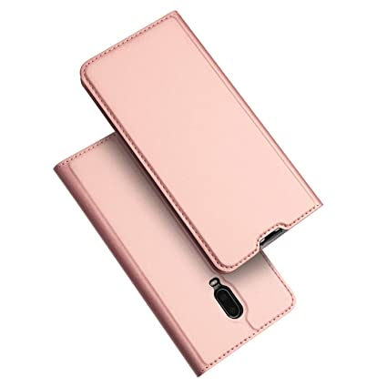 premium selection b56c9 0e80c SANCHAR'S Skin Pro Series 360 Protection PU Leather Flip Case Cover for  OnePlus 6T (Rose Gold)