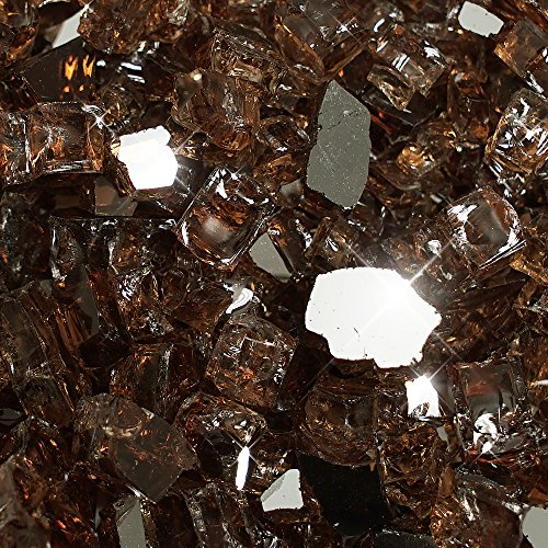 Golden Flame 20-Pound Fire Glass 1/2-Inch Rich-Copper Reflective