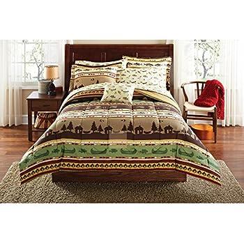 Amazon Com River Fishing Comforter Set Queen Home Amp Kitchen