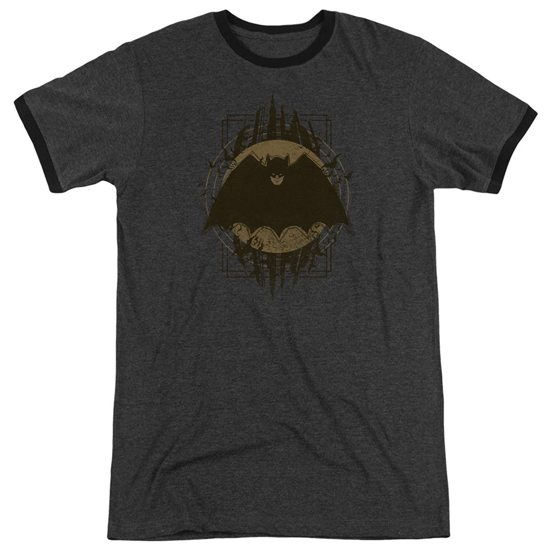 Batman Men's Batman Crest Ringer T-Shirt