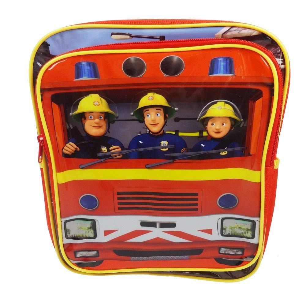 Trade Mark Collections Fireman Sam Square Back Pack (Red) SAM001014 Cartoons & Comics
