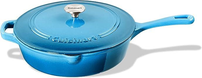 金盒特价 Cuisinart 美膳雅 12英寸 珐琅铸铁煎锅 5.4折$69.99 多色可选 海淘转运到手约¥1046