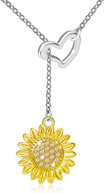 Sunflower Rose Plated Necklace And Earring Gift Set Boxed Happy Sun Flower NEW Z