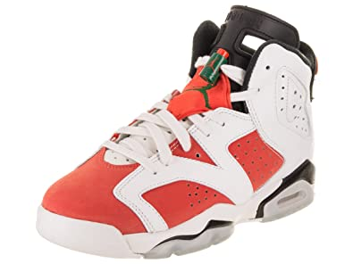 c7e623541b8904 Jordan Air 6 Retro Big Kids  Basketball Shoes Summit White Team Orange-Black